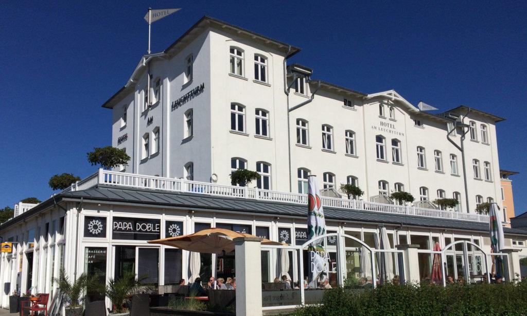 Hotel Am Leuchtturm mit Terrasse